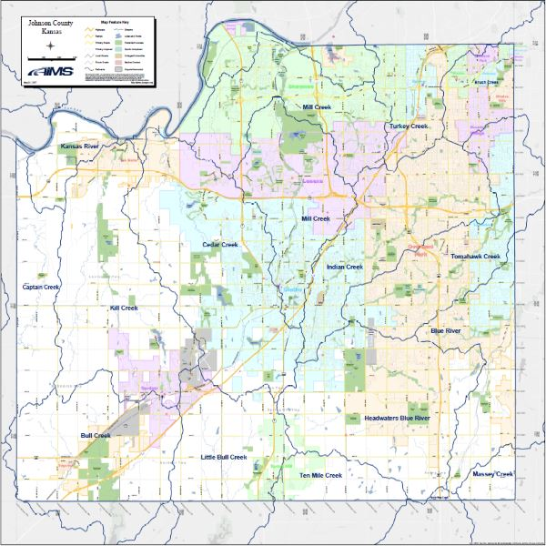 Jo Co Watersheds Map